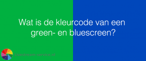 colorcode green screen blue