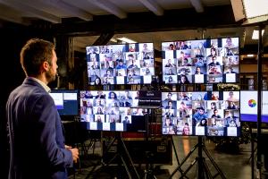 Interactief Deelnemers Zoom Teams Livestream Service